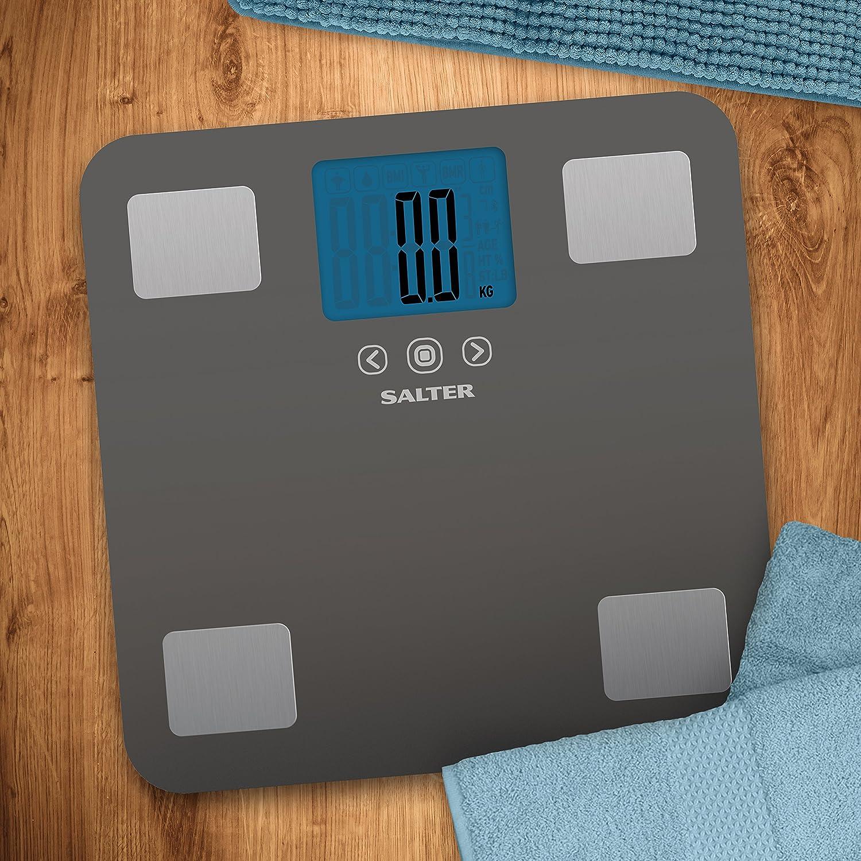 Salter Max - Báscula de baño analizadora, 250 kg, color gris: Amazon.es: Salud y cuidado personal