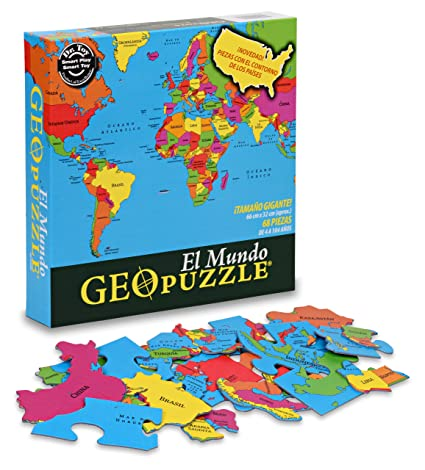 Geotoys GeoPuzzle World (Spanish Edition) - Educational Geography Game on australia map games, math map games, geography vocabulary, canada map games, southeast asia map games, geography flag games, weather map games, africa map games, africa country games, social studies map games, maps map games, african geography games, football map games, geography review, middle east map games, world map games, geography outline maps, europe map games, geography case study, usa map games,