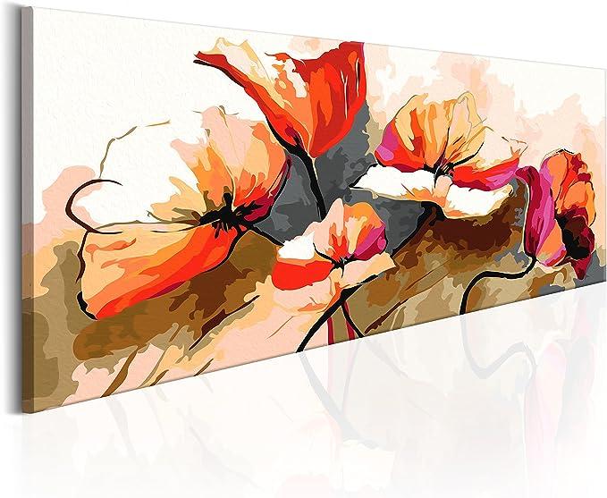 murando Peinture par Numero Fleurs 60x40cm DIY Tableau Peindre par Nombre Bricolage pour Enfants Num/érique pour Enfants Cadre Home Decor DIY n-A-0388-d-a