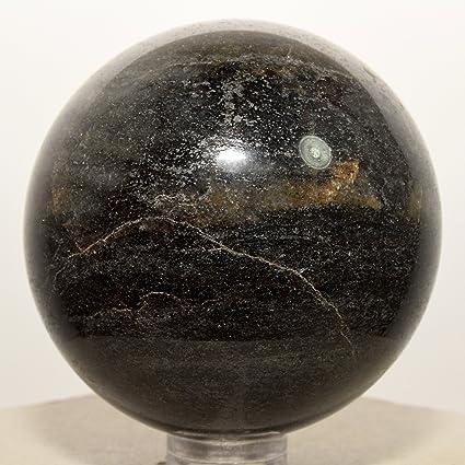 53 mm Negro Natural turmalina esfera W/Pirita pulido cristal mineral piedra bola – China