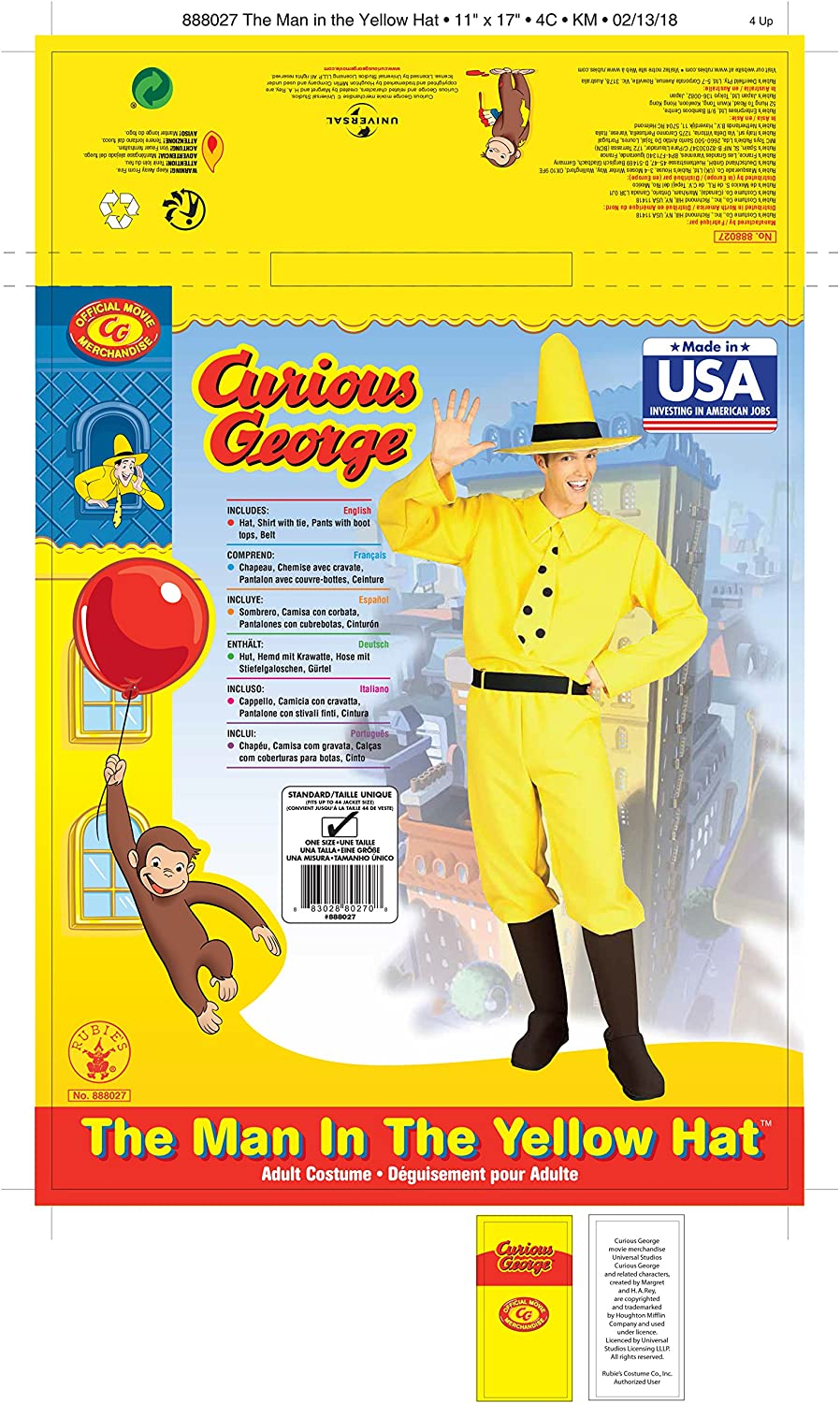 26a2392ef53 Amazon.com  Rubie s Curious George Man In The Hat