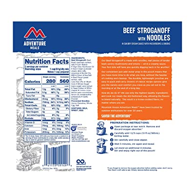 Mountain House Beef Stroganoff With Noodles Freeze Dried Emergency Food Pouch