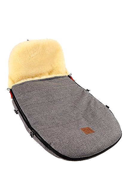 Kaiser Saco de dormir de adaptada para modelo Bugaboo & Joolz piel de cordero naturaleza,
