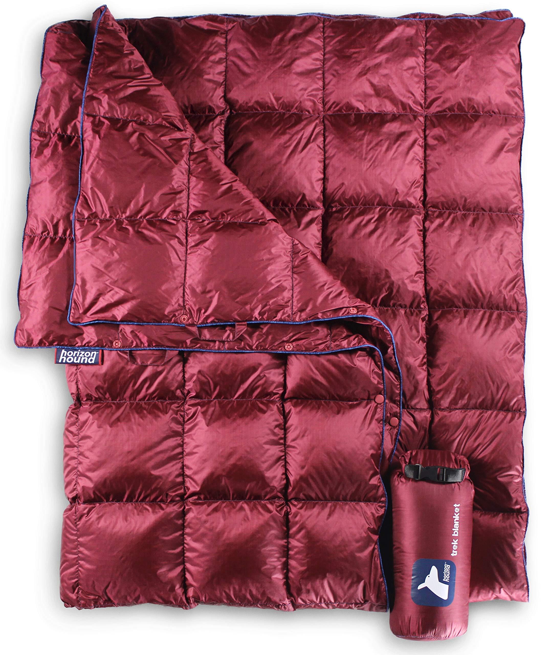 ویکالا · خرید  اصل اورجینال · خرید از آمازون · Horizon Hound Down Camping Blanket - Outdoor Lightweight Packable Down Blanket Compact Waterproof and Warm for Camping Hiking Travel - 650 Fill Power (Red, 80 x 54) wekala · ویکالا
