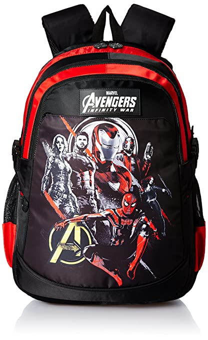 ae17519050 Avengers Infinity War Black   Red School Bag for Children of Age Group 8  +years