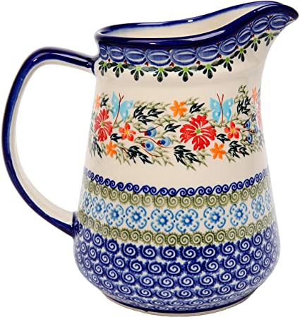 Amazon Polish Pottery Ceramika Boleslawiec 6060 Pitcher Delectable Polish Pottery Patterns
