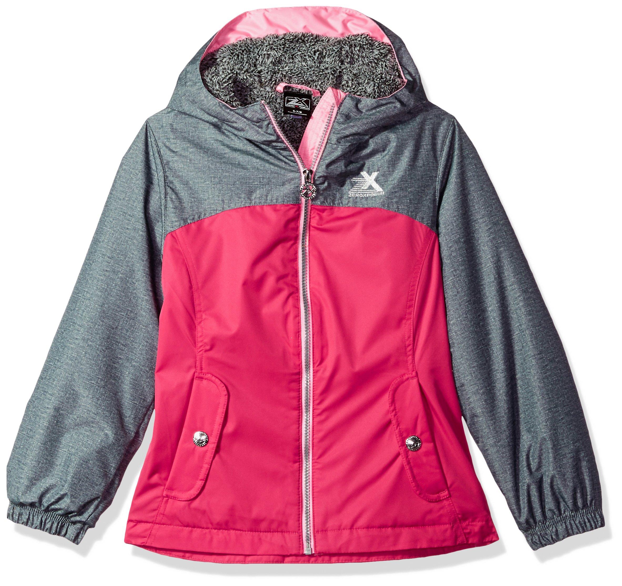 ZeroXposur Big Girls' Elissa Transitional Jacket, Cerise, X Large by ZeroXposur