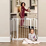 Regalo Easy Step Extra Wide Baby Gate, Includes 4-Inch and 4-Inch Extension Kits, 4 Pack of Pressure Mounts Kit and 4 Pack of