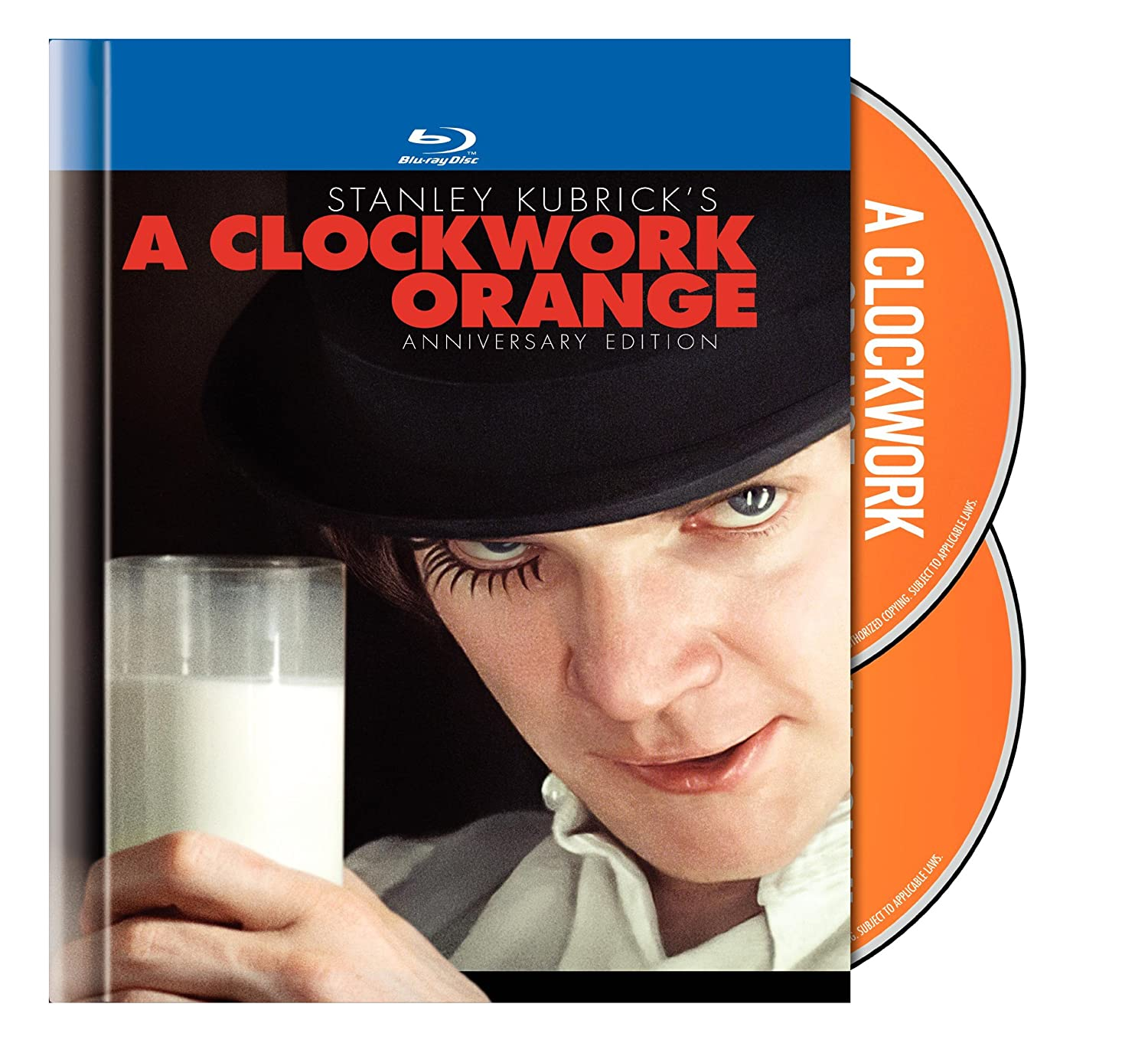 com a clockwork orange two disc anniversary edition blu  com a clockwork orange two disc anniversary edition blu ray book packaging malcolm mc dowell patrick magee adrienne corri warren clarke