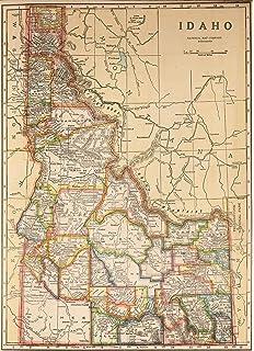 Amazon.com: Raven Maps Idaho Topographic Wall Map, Laminated ...