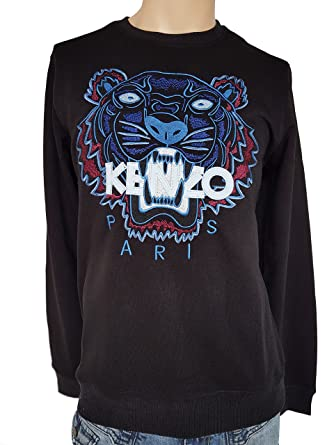 Kenzo Pullover schwarz blauer Tiger Herren S M L XL (S)