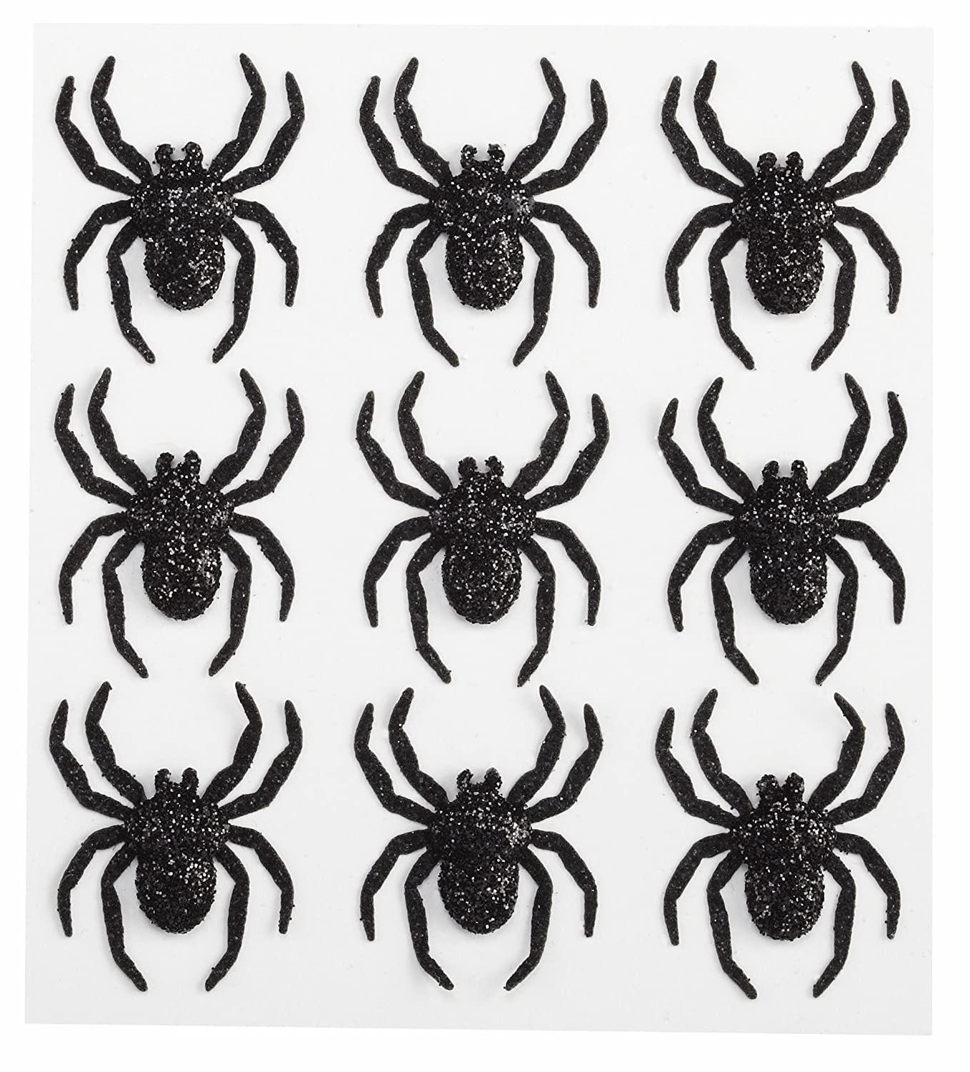 Jolee's Boutique Parcel Dimensional Stickers, Glitter Spiders