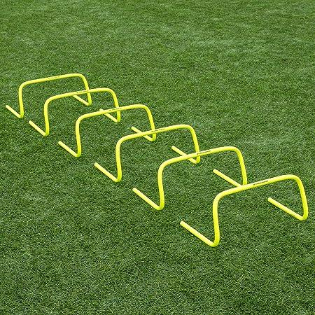 HURDLES set of 6 15cm AGILITY TRAINING SPEED SPORT SOCCER FOOTBALL MICRO FLUPR