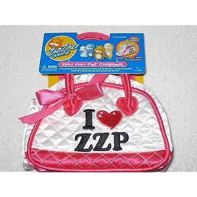 Zhu Zhu Pets Accessory Deluxe Pet Carrier White I Heart ZZP: Toys & Games
