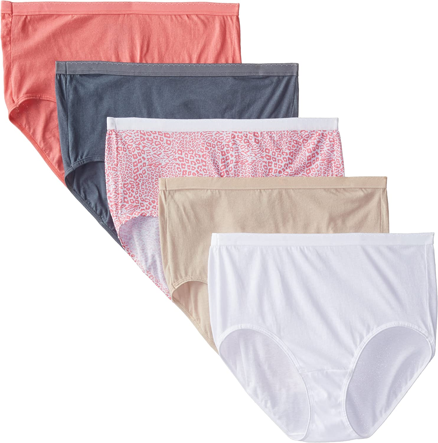 6 Pack Underwear Fruit of the Loom Womens Fit for Me Womens Microfiber Briefs