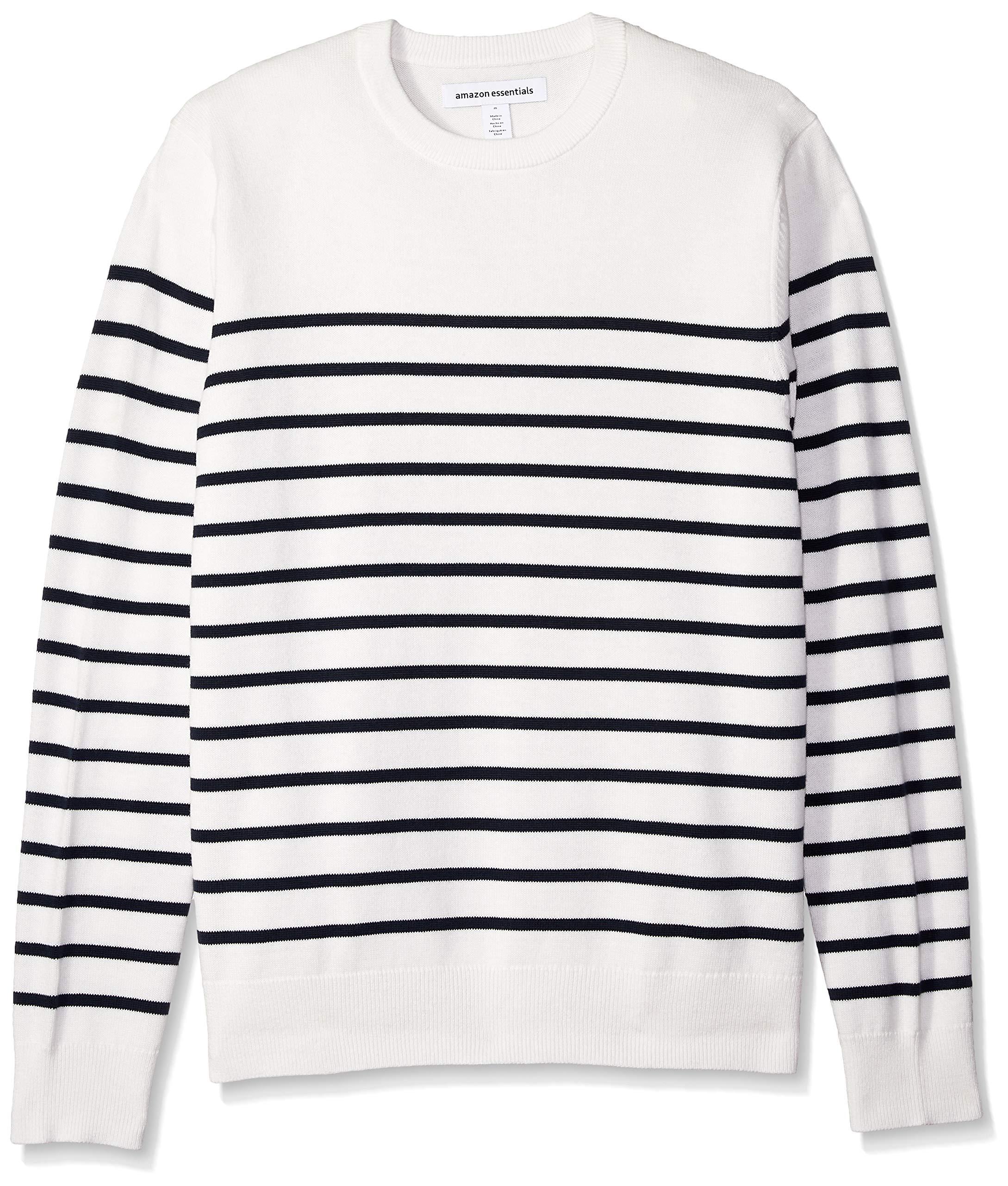 c8a56bfa29 Amazon Essentials Men s Crewneck Stripe Sweater