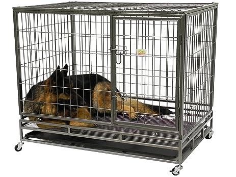go pet club heavy duty metal cage 43inch by 30 by 38