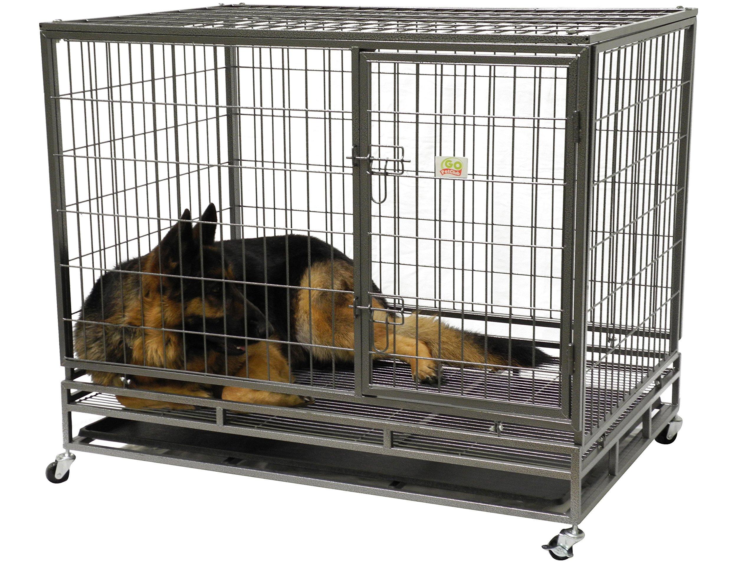 Go Pet Club Heavy Duty Metal Cage, 43-Inch by 30 by 38-Inch