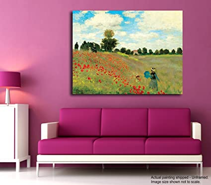 Tamatina Claude Monet Canvas Painting - Les Coquelicots - Poppies ...