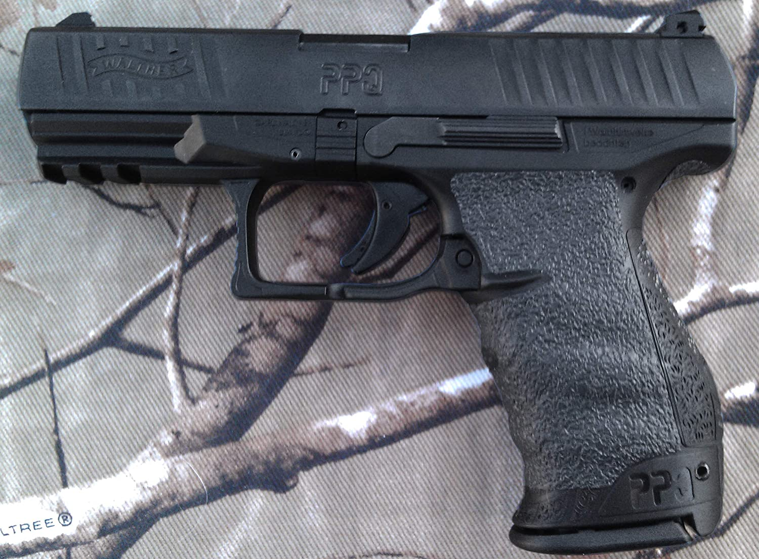 Tractiongrips Rubber Grip Tape Overlay for Walther PPQ