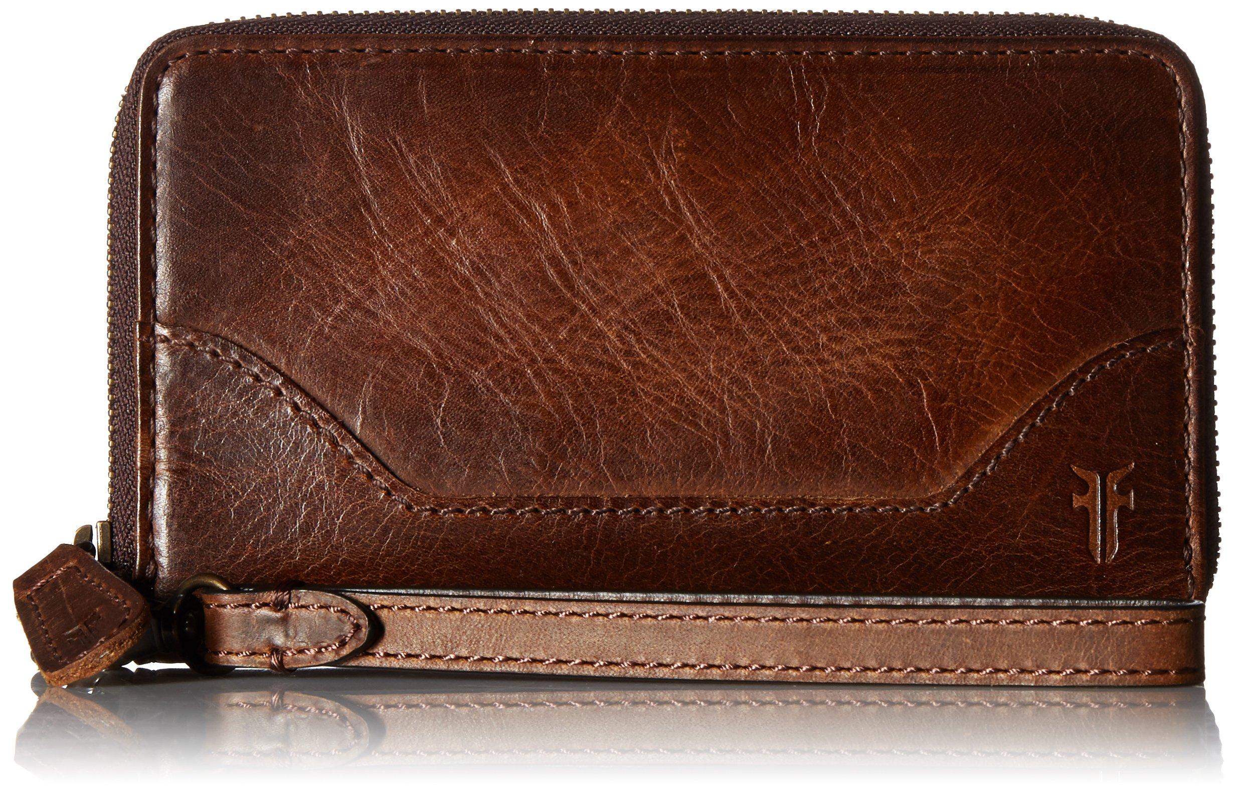 FRYE Melissa Zip Phone Wallet, Dark Brown