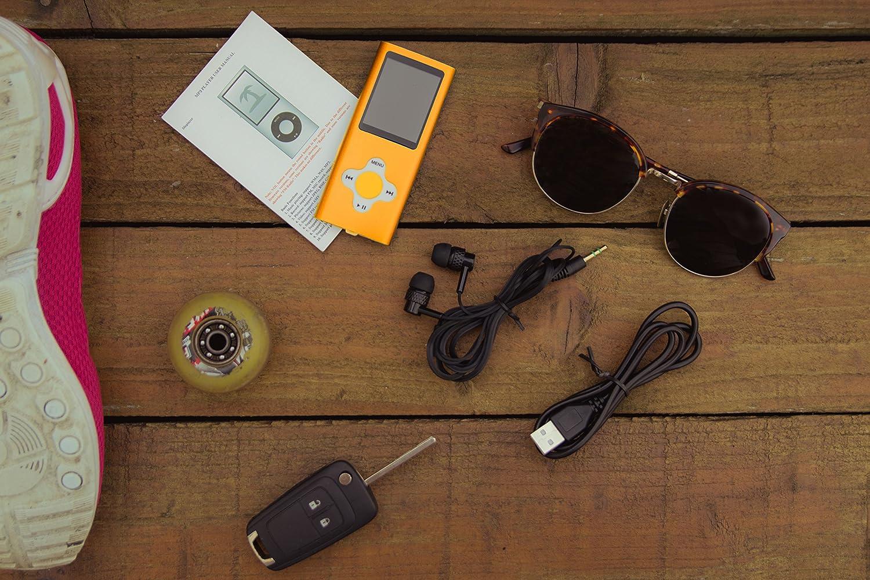 ES Traders Lettore MP3 Giocatore 8 GB di memoria interna con radio giochi di 4a generazione registratore vocale Oro