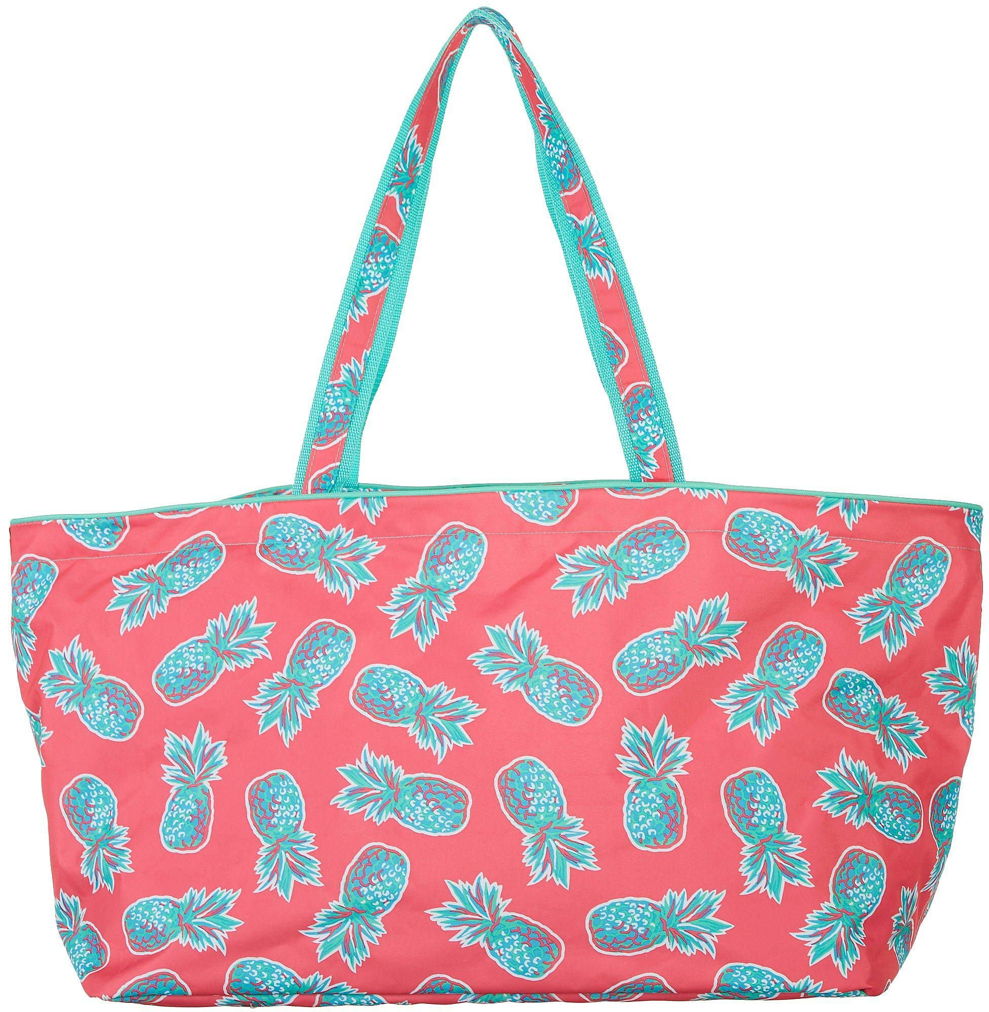 Tackle & Tides Pineapple Ultimate Tote One Size Pink/Aqua Blue