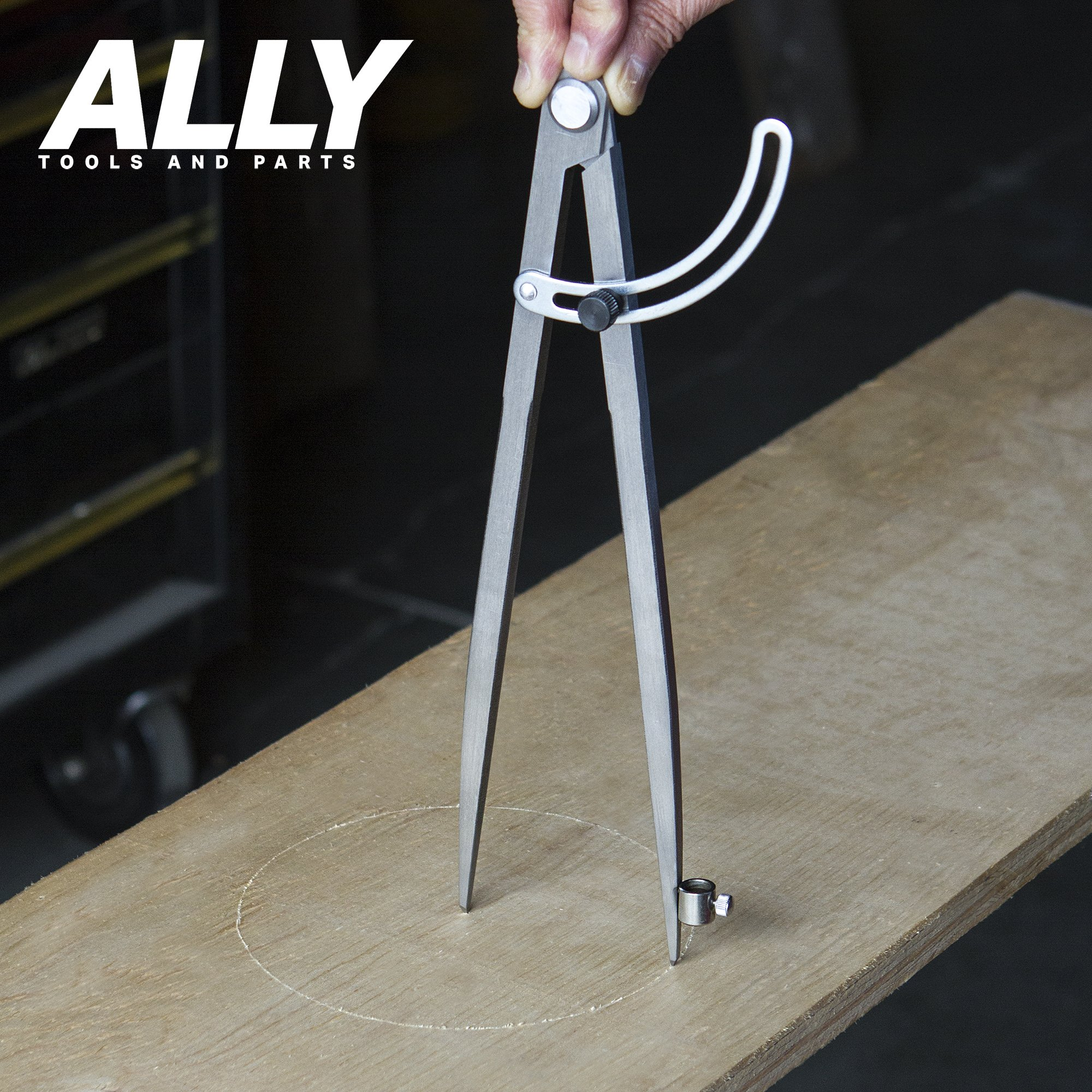 ALLY Tools 12'' Wing Divider Pencil Holder/Compass Scribe Kit INCLUDES Two Pencils and Metal Pencil Sharpener Ideal for Drawing Circles, Scribing Wood, Scribing Metal, Drafting, and Map Plotting by ALLY Tools and Parts (Image #5)