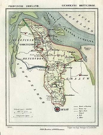 Zeeland Karte Niederlande.Amazon De Theprintscollector Kunstdruck Antikes Karte Niederlande
