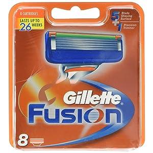 Gillette Fusion MenÕs Razor Blades, Standard Packing - 8 Blades