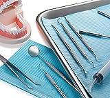 Ultimate Dentist Prepared 7 Tools Deluxe Kit Dental Floss Gum Floss Toothpicks Dental Hygiene Kit Set Dental Instruments High Grade Stainless Steel Tarter with Tongue Cleaner by Diamond Driven
