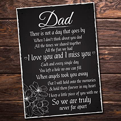 243333f5 Amazon.com: XLD Store Love and Miss You Dad Memorial Grave Plaque Daddy  Gift Bereavement Sign: Home & Kitchen