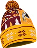 NFL Washington Redskins Busy Block Printed Light Up Beanie, One Size, Red