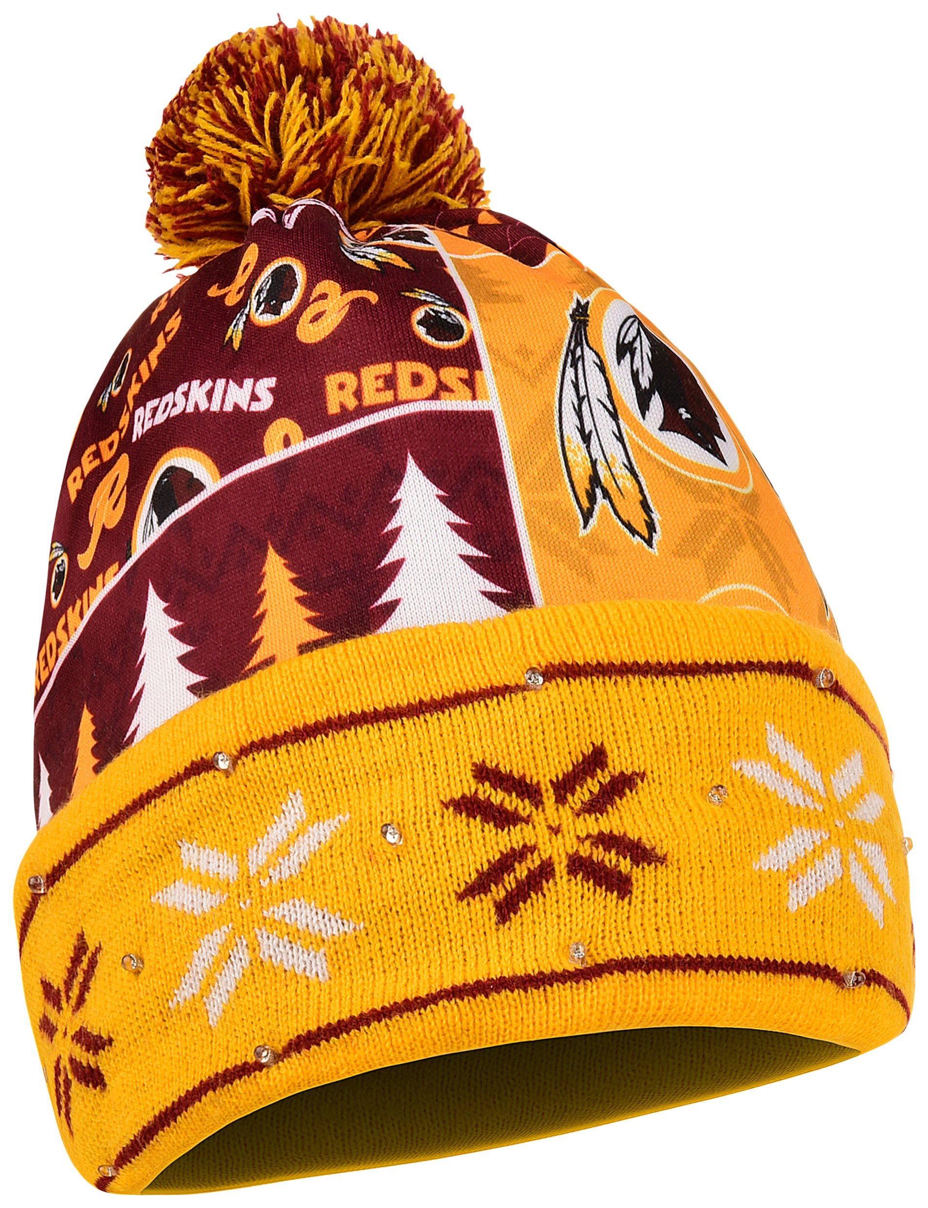FOCO Washington Redskins Exclusive Busy Block Printed Light Up Beanie