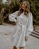The Drop Women's Ivory Utility Tie-Waist Loose-Fit Shirt Dress by @spreadfashion