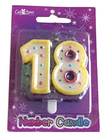 Number 18 Candle 18th Birthday Party Cake Decoration Amazoncouk Toys Games