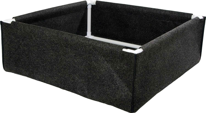 Hydrofarm HGDPB3X3 Dirt Pot Box, 3×3, Black