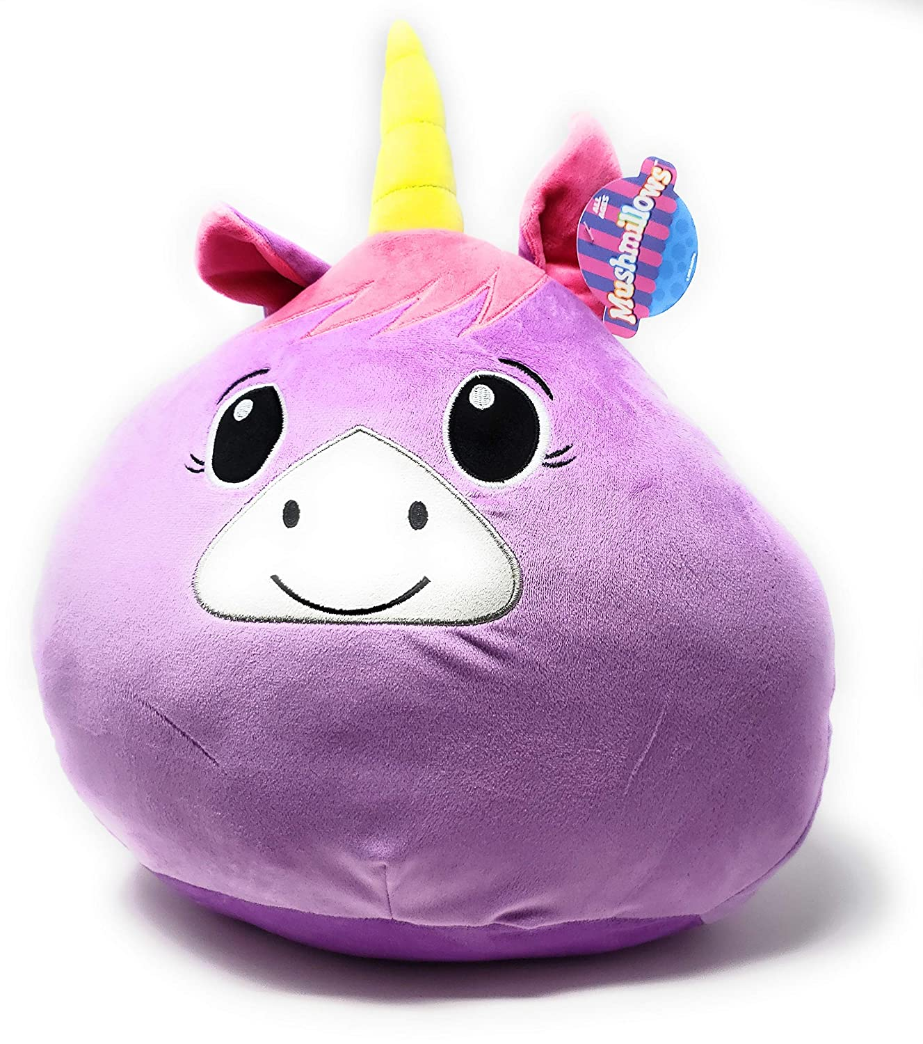 Mushmillows 16 Inch Plush Large Stuffed Animals Cute Soft Toys for Kids Children Plush Pillow Purple Unicorn Great Gift for Holidays or Parties