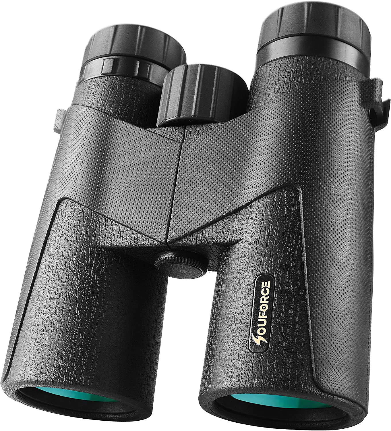 SOUFORCE 10×42 Binoculars for Adults Kids,Black Waterproof Fogproof Shockproof with BAK4 Prism FMC Lens for Bird Watching Travel Stargazing Hunting Concerts Sports Games