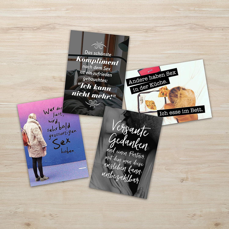 Zitaten und Aphorismen DIN A6 20 Verschiedene Motive mit Spr/üchen TypeStoff 20er Postkarten-Spar-Set DIN A6 Sex BLEIB WIE DU BIST