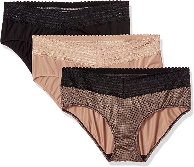 Warner's Blissful Benefits No Muffin Top 3 Bragas Hipster para Mujer