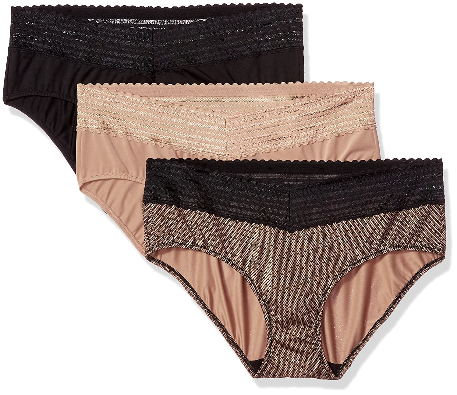 6458feb3e40f Warner's Women's Blissful Benefits No Muffin Top 3 Pack Lace Hipster ...