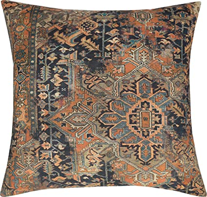 Marvelous Eurasia Decor Decorhouzz Old Persian Rug Vintage Patchwork Inspired Print Pillowcase For Sofa Couch Living Room Bedroom Rustic Cotton Linen Decorative Alphanode Cool Chair Designs And Ideas Alphanodeonline