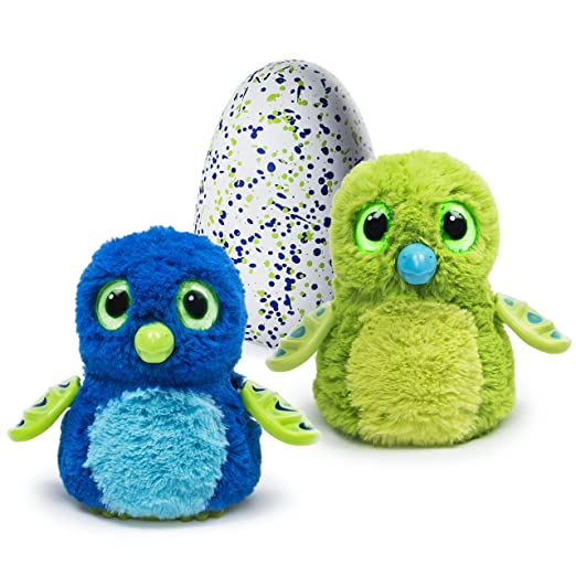 Hatchimals - Draggle - Blue/Green Egg - Hatching Egg - Interactive Creature