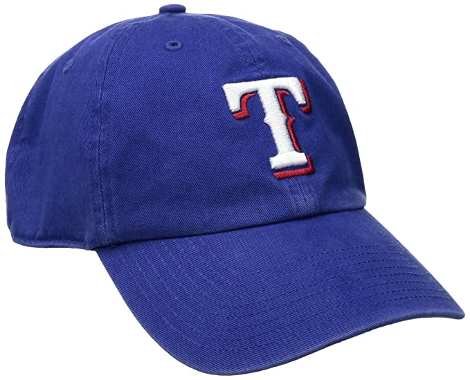 dc6317f2c6d5e Amazon.com   Texas Rangers Clean Up Adjustable Cap   Baseball Caps    Clothing