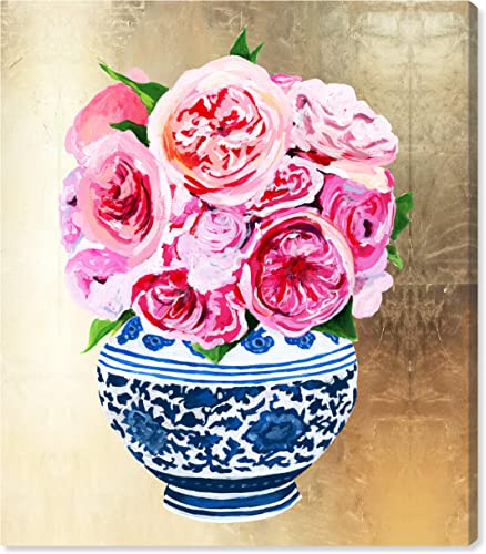 The Oliver Gal Artist Co. World and Countries Wall Art Canvas Prints 'Julianne Taylor-Peonie Vase Home D cor