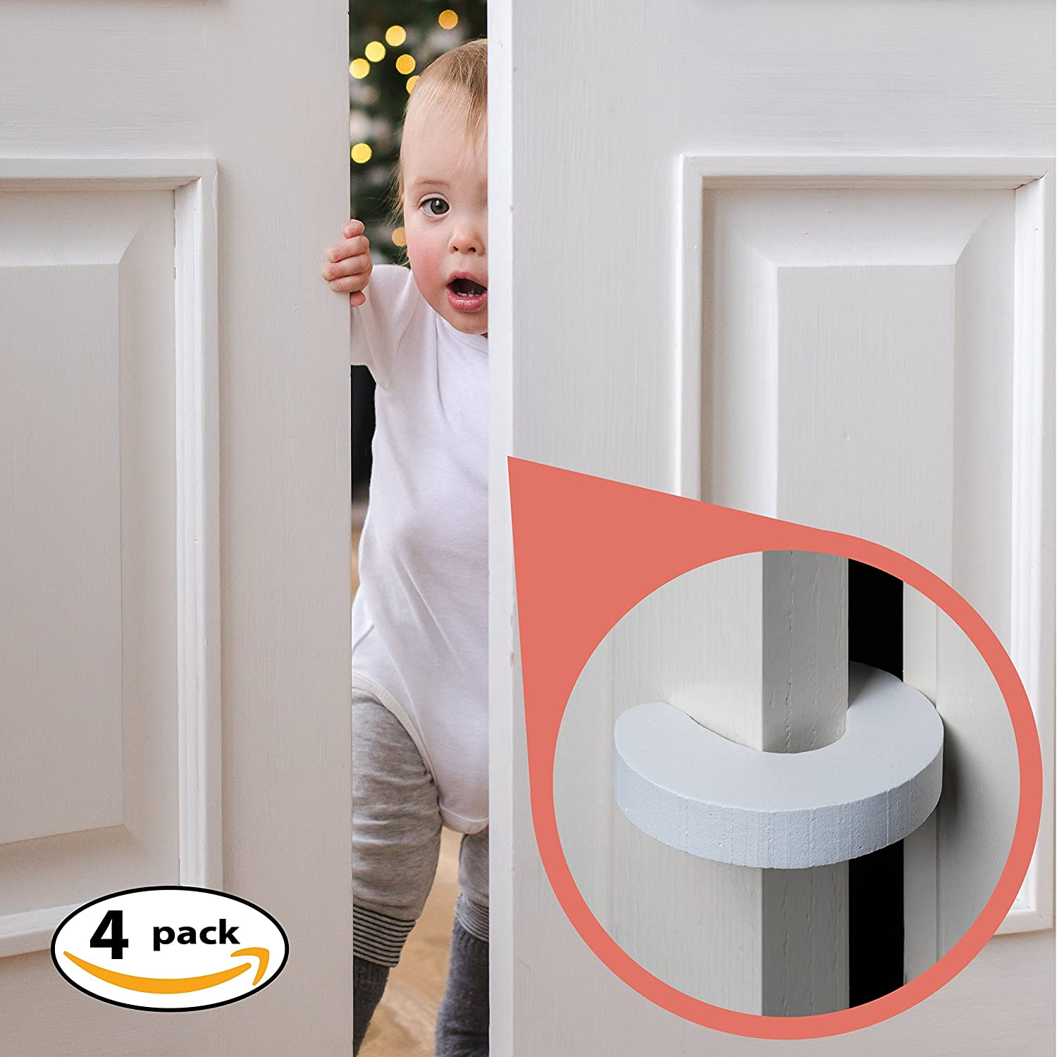 8pk - Finger Pinch Guard - 4pk. Baby Proofing Doors Made Easy with Soft Yet Durable Foam Door Stopper. Prevents Finger Pinch Injuries, Slamming Doors, and Child or Pet from, Child Safety Cabinet Lock moreideas