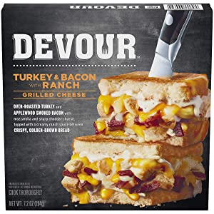 Devour Turkey & Bacon with Ranch Grilled Cheese Frozen Meal (7.2 oz Box)