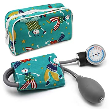 AIESI Esfigmomanometro Tensiómetro Manual Pediatrico Profesional Aneroide clásico con brazalete de colores para ninos DOCTOR PRECISION CHILD ✔ Medidor ...