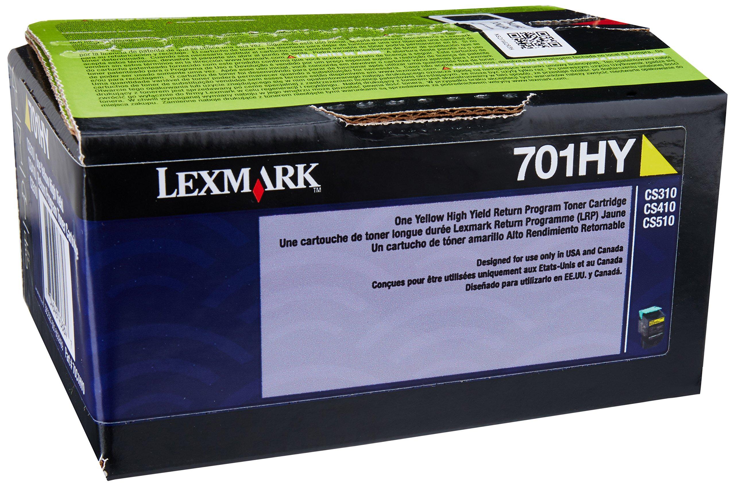 Lexmark 70C1HY0 Yellow High Yield Return Program Toner